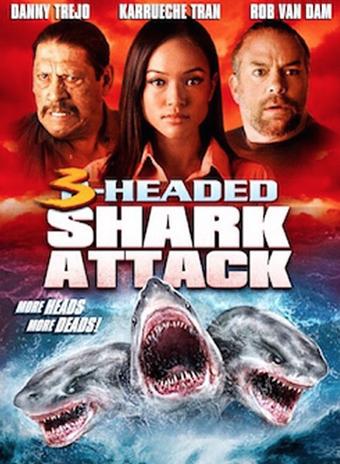 L'Attaque du requin à trois têtes affiche