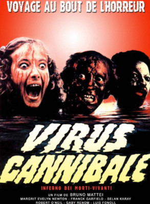 "Affiche du film ""Virus cannibale"""