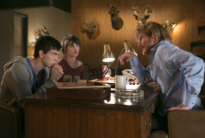 "L-r, Nick Braun, Mackenzie Davis and Denis Leary in Columbia Pictures' ""Freaks of Nature."""