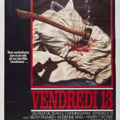 """Affiche du film """"Vendredi 13"""""""